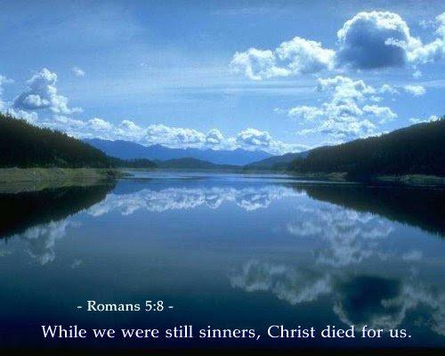 Inspirational illustration of Romans 5:8