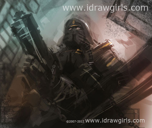 mecha, marine, soldier, commando, robot, space, armor, painting, photoshop, art, concept, design, drawing, how to, illustration, speedpaintiing, tutorial