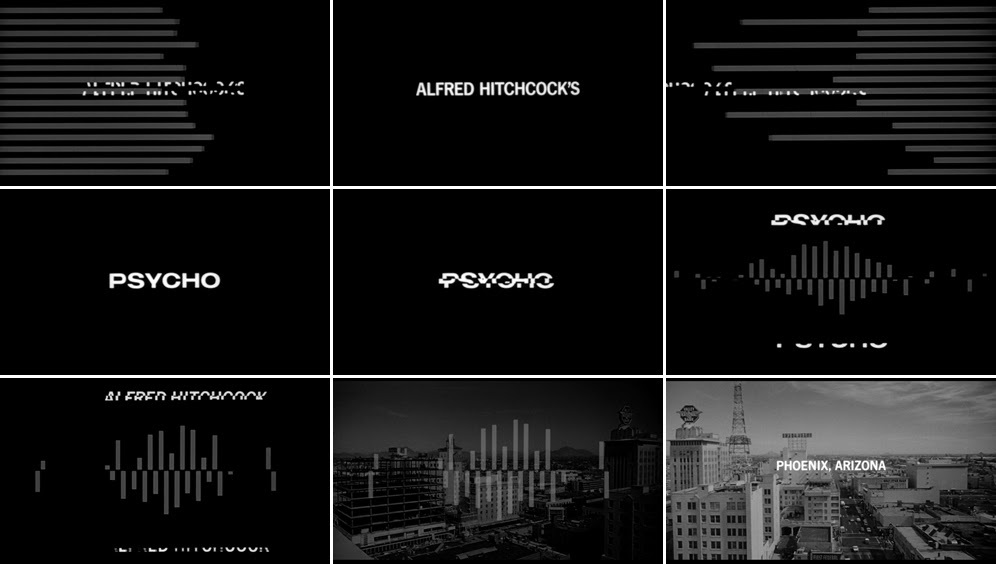 Saul Bass Psycho 1960 title sequence