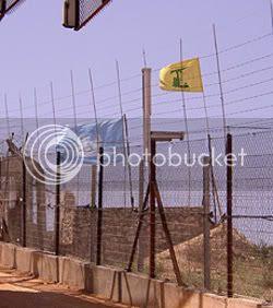 UN and Hizbollah Flags