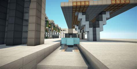 minecraft modern train station