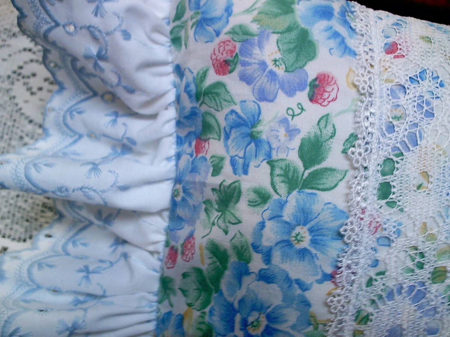 Laura Ashley Fabric Cottage Pillow