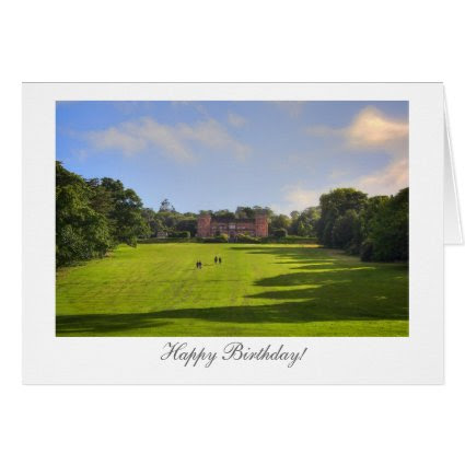 Stately Home - Happy Birthday Greeting Cards