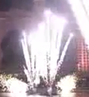 Close Proximity Pyrotechnics  comet with full tail pyro
