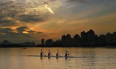 Spectacular Rising Sun at Kallang River, Singapore