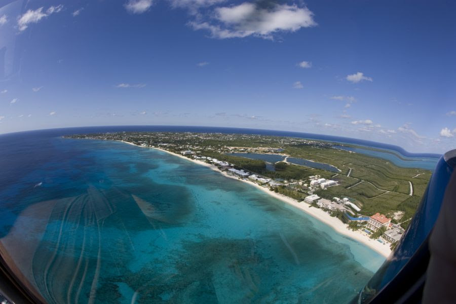 Cayman Islands ZF2MN Helicopter tour.