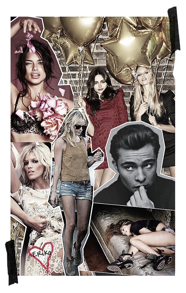 Anja Rubik, Chuck Bass, Adriana Lima, Kate Bosworth, Fashion Inspiration