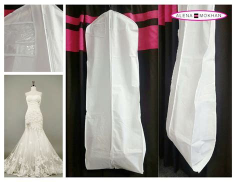 White Breathable Wedding Gown Prom Dress Garment Bag Extra