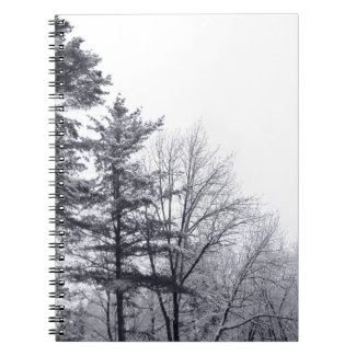 Snow-covered Trees: Vertical notebook