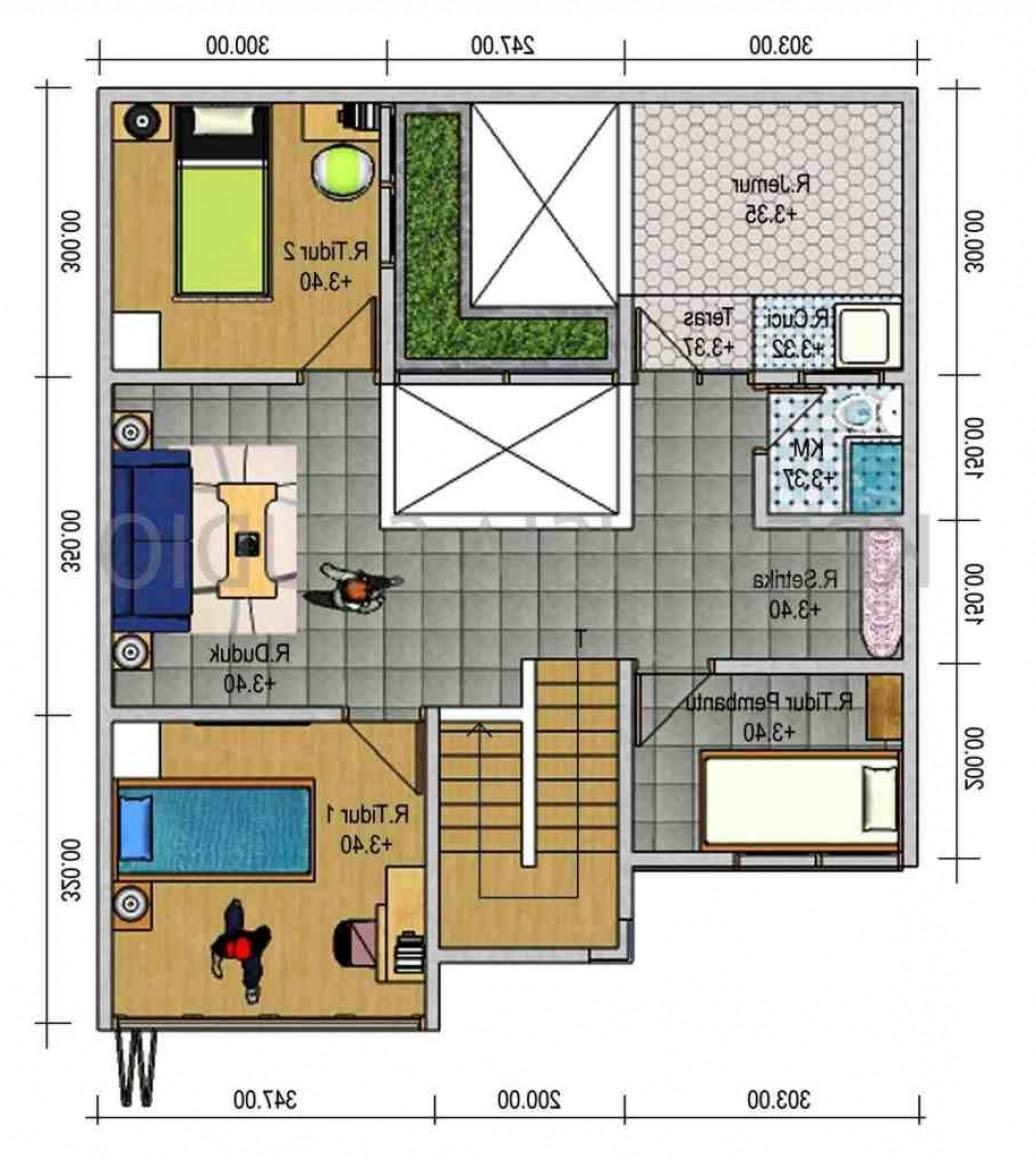 108 Denah Rumah Modern Minimalis Type 45 Gambar Desain Rumah Minimalis
