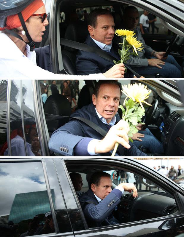 Resultado de imagem para joao doria + flores charges