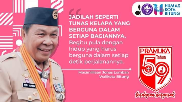 Walikota Lomban Dan Wawali Maurits Ucapkan Selamat Hari Pramuka Ke 59 Tahun Media Manado