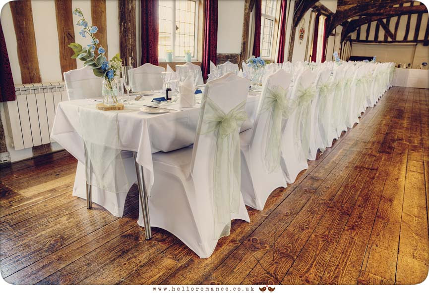 Vintage wedding table decorations - Hadleigh Wedding Photography Suffolk- Hello Romance