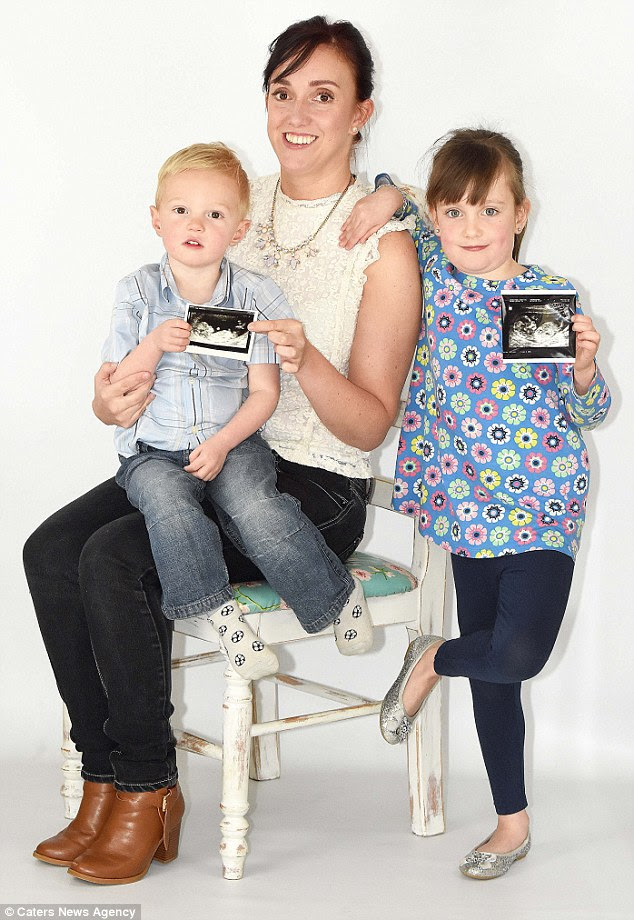 Faye Wilkins, 31, from Plymouth, was diagnosed with a rare condition called uterus didelphys - causing her to have two sets of reproductive organs, but now has two 'miracle' children, Molly, 7, and George, 2