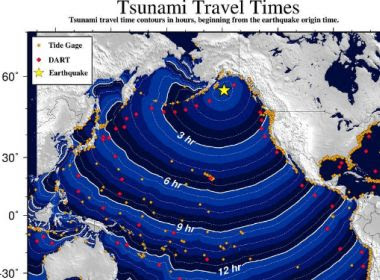Alasca registra terremoto de magnitude 8.2 com aviso de tsunami