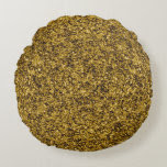 Gold Flaked Round Pillow