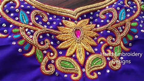Zardosi work designs for blouses, bridal zardosi maggam