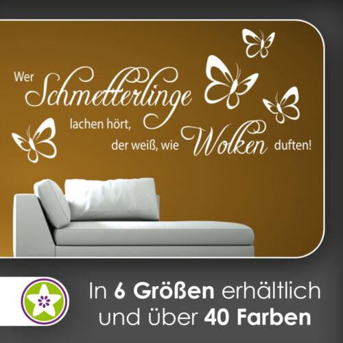 Furniture Stickers Wer Schmetterlinge Lachen Hort Wandtattoo Kiwistar Aufkleber Waf0967 Home Furniture Diy 5050 Pk