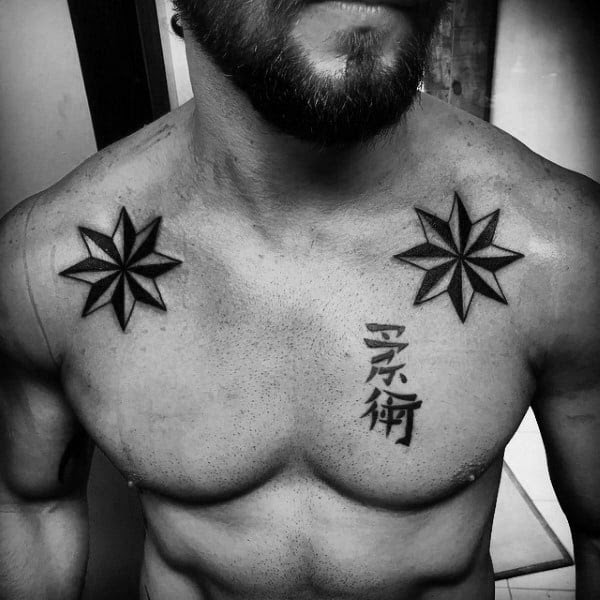 80 Nautical Star Tattoo Designs For Men Manly Ink Ideas