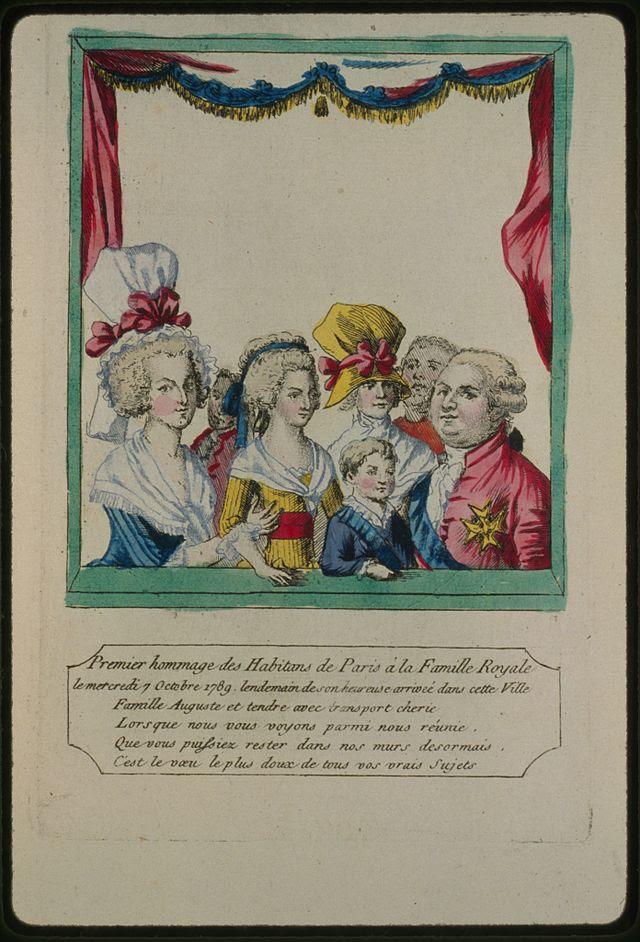 Premier homenaje des Habitans de París a la Famille Royale le mercredi 7 Octobre 1789.jpg