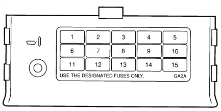 Ford Probe Mk2 1992 1997 Fuse Box Diagram Auto Genius