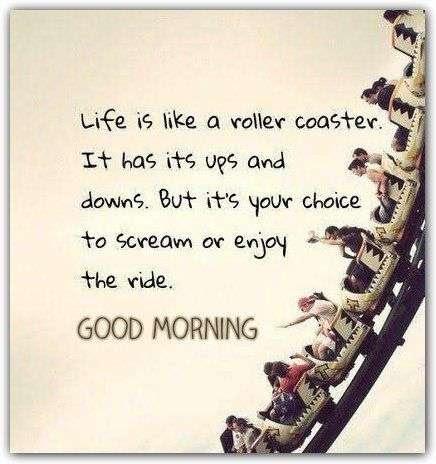 Life Is Like A Roller Coaster Goodmorningpicscom