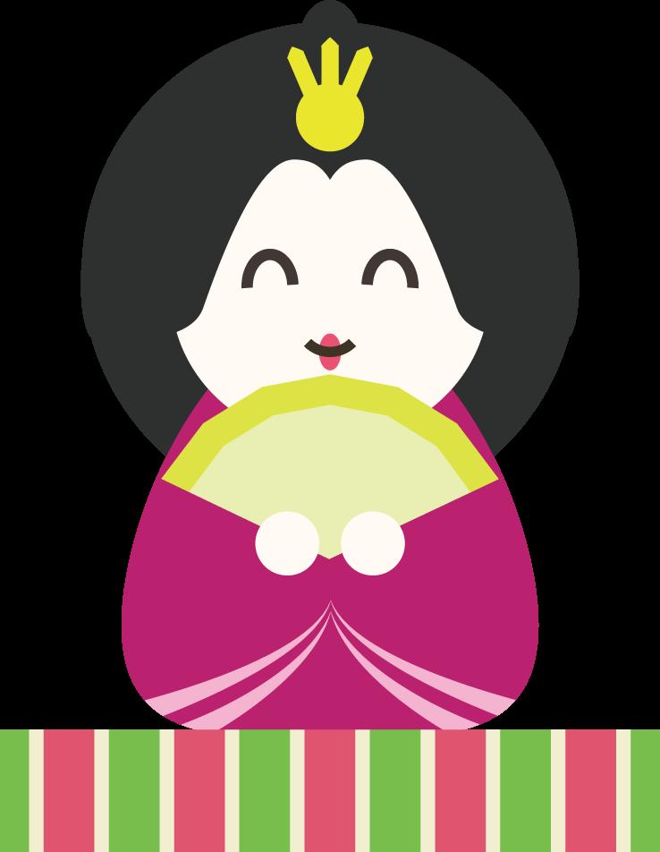 雛人形の女雛イラスト 親王飾りのお姫様 可愛い無料イラスト素材集