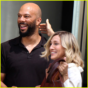 Sarah Jessica Parker Films 'Best Day of My Life' with Common