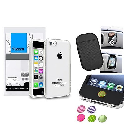 Insten 1390328 3-Piece iPhone Case Bundle For Apple iPhone 5C, Apple iPhone/iPad/iPod Touch