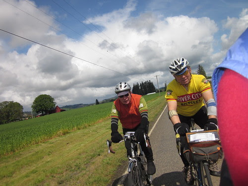 Ray and Tom, headed into Forest Grove