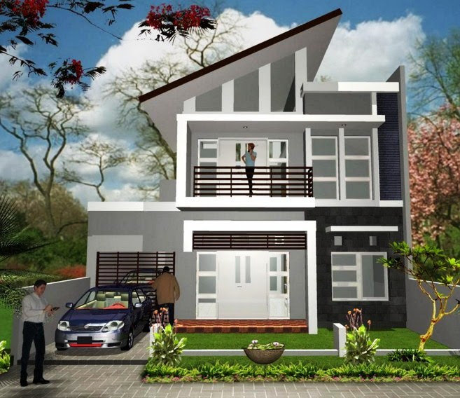 63 Gambar Rumah Minimalis 2 Lantai Terbaru 2017 HD Terbaik