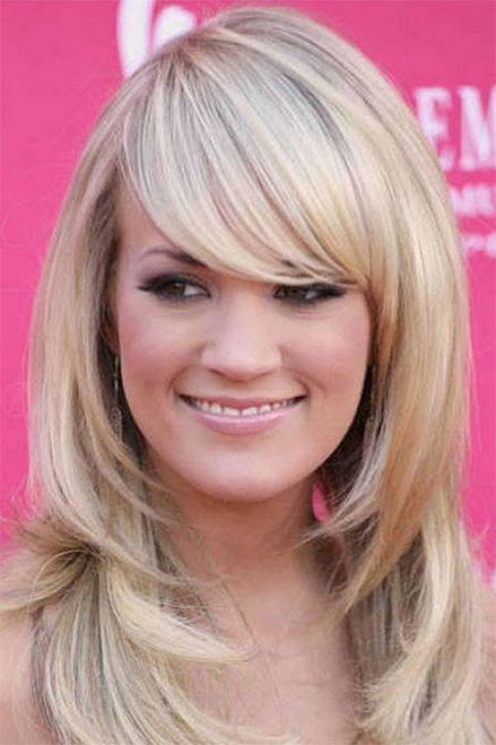 15+ Modern Medium Length Haircuts With Bangs, Layers For Thick Hair & Round Faces - Watch out Ladies