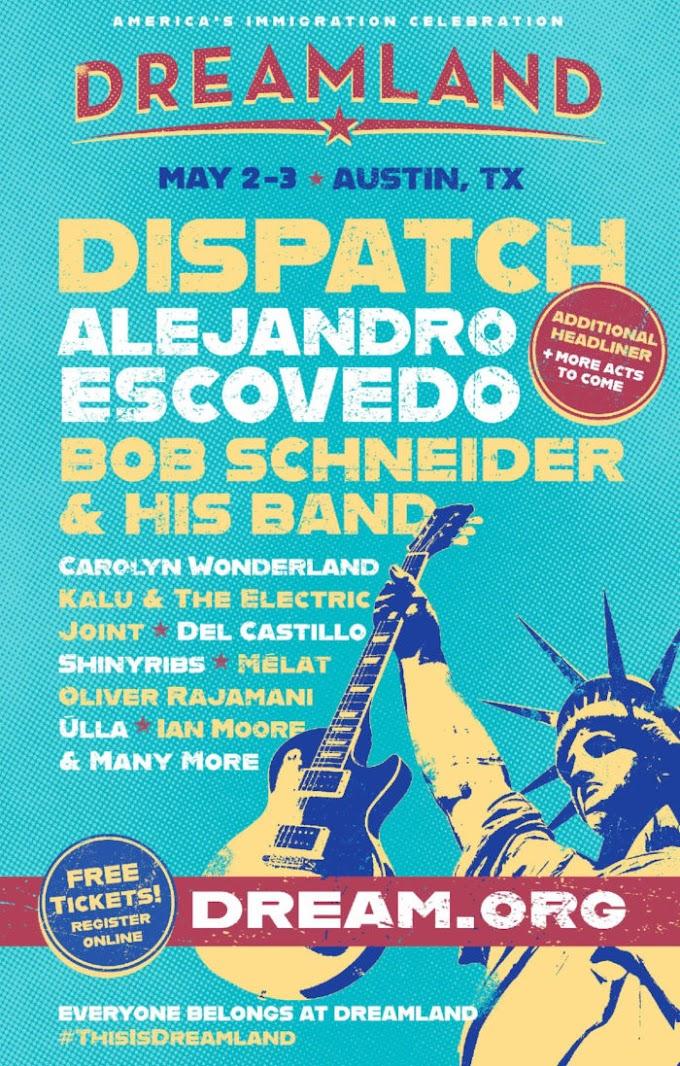 Dreamland Festival Announces Inaugural Edition: Dispatch, Alejandro Escovedo, Bob Schneider & His Band and More