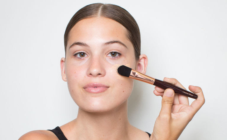 Image result for putting on foundation