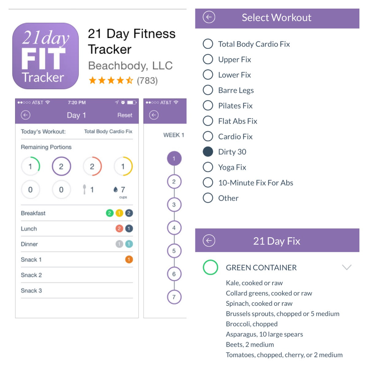 Image result for 21 day fix app