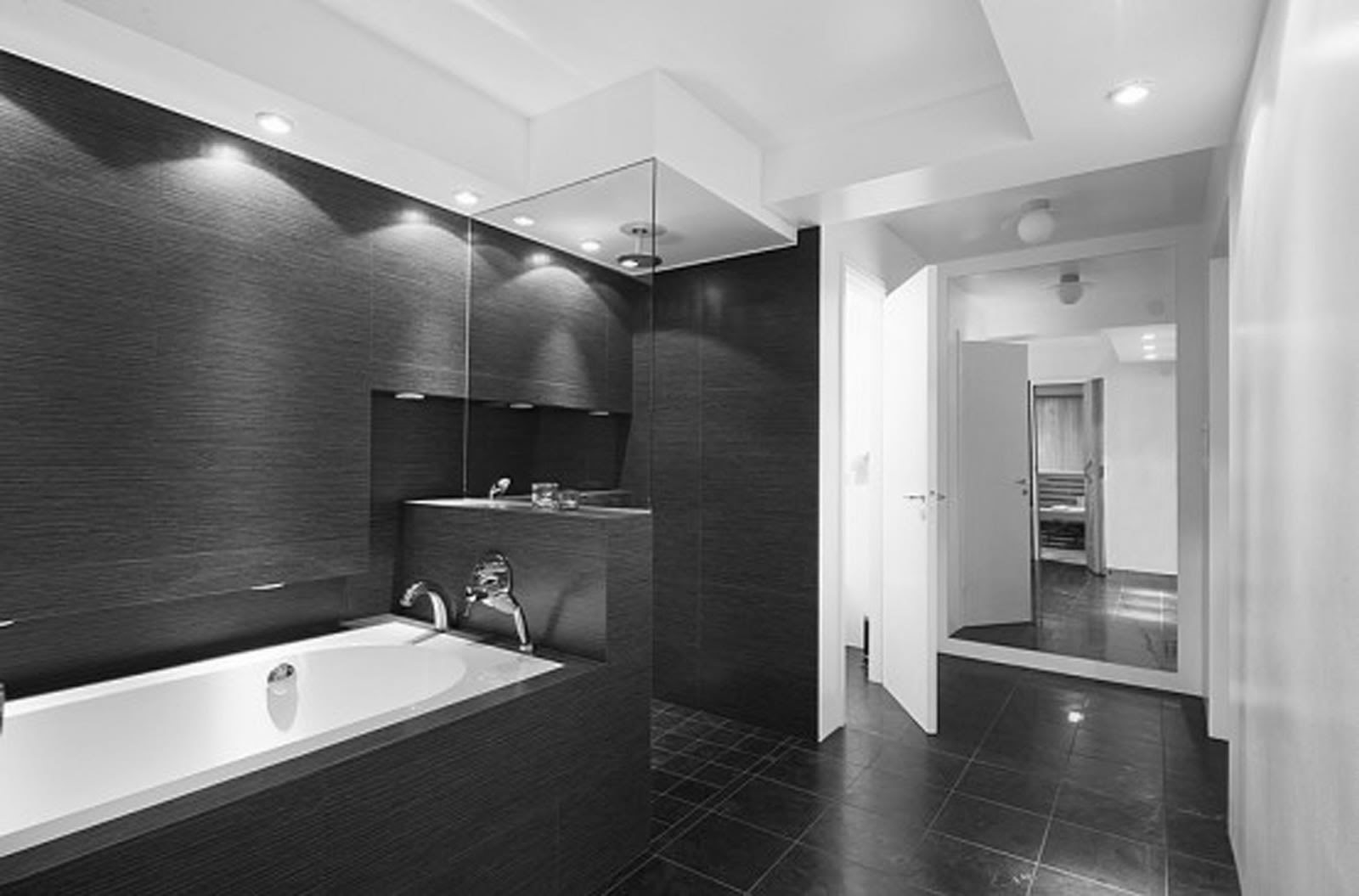 Trending Ideas for Black and White Bathroom Tiles ...