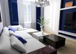 Blue And White Living Room Interior Design Blue Sofa Of 37 Blue ...