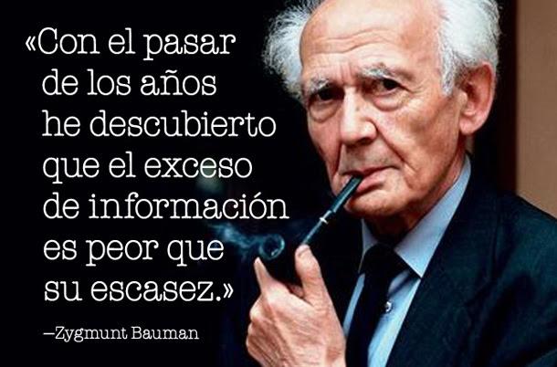 Zygmunt Bauman El Exceso De Informacion Es Peor Que Su Escasez