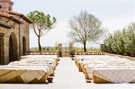 Straw Bale Seating For Your Wedding ? Unconventional But