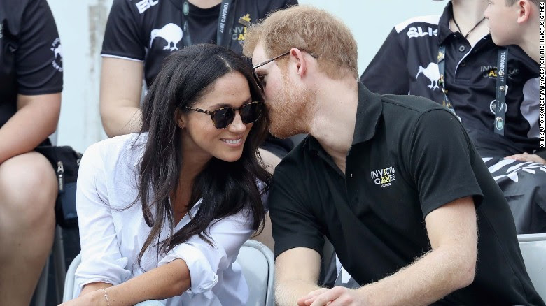 Prince Harry and Meghan Markle at the Invictus Games 2017.