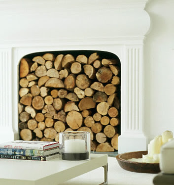 Druidswood Decorative Round Firewood Logs