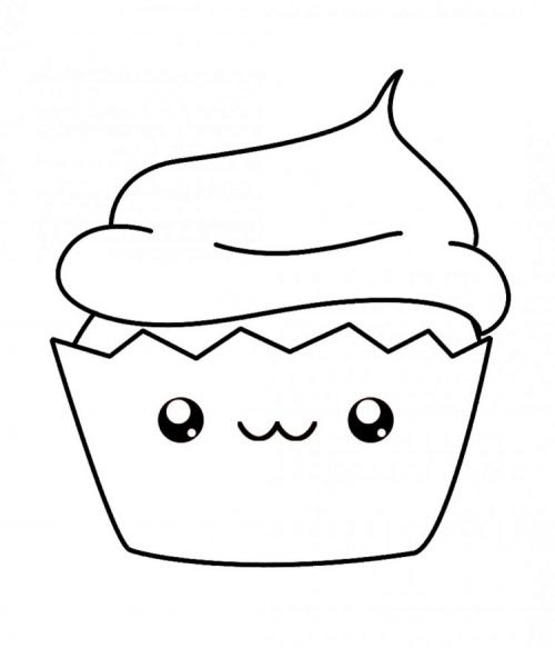 Cupcake Coloring Pages Simple Miloficom For