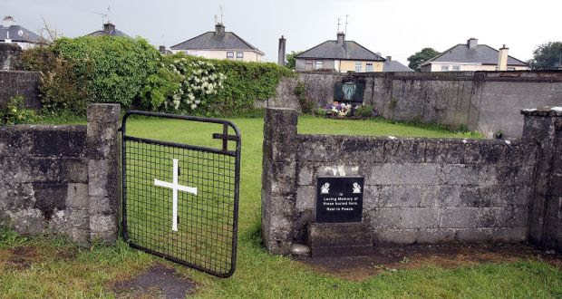 The shrine in Tuam, Co Galway, erected in memory of up to 800 children who were allegedly buried at the site of the former Mother and Baby Home, before excavations began. Photograph: Paul Faith/AFP/Getty Images