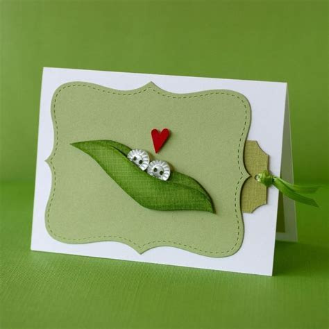 "These special ""Two Peas in a Pod"" cards make adorable Baby"