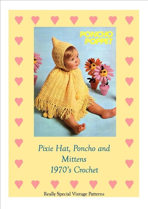 PDF Vintage Crochet Pattern Baby Pixie Hat by PamoolahVintage, $3.50
