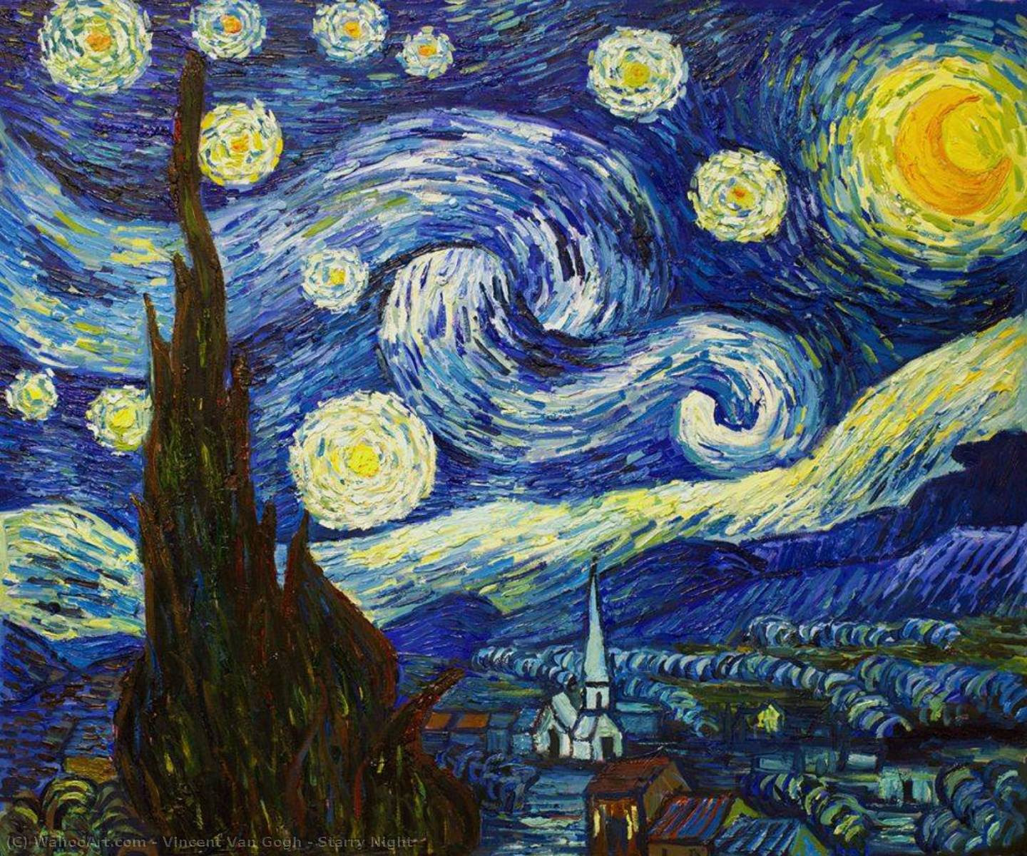 Starry Night By Vincent Van Gogh Paintings Reproductions