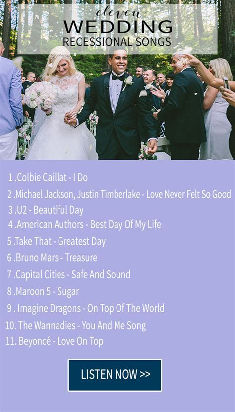 11 wedding recessional songs   Chic & Stylish Weddings