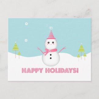 Snowman Postcard postcard