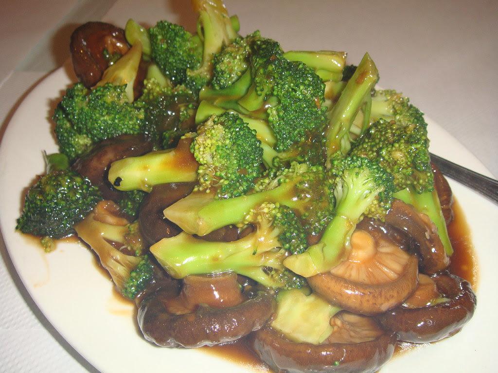Broccoli & Black Mushrooms