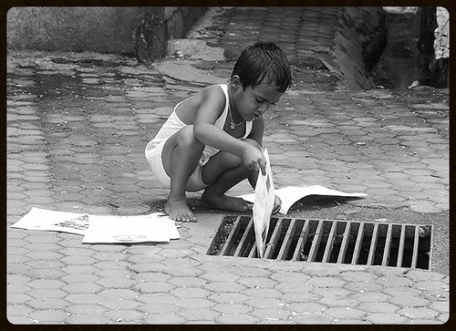 Teacher - Home Work Gone Down The Drain by firoze shakir photographerno1